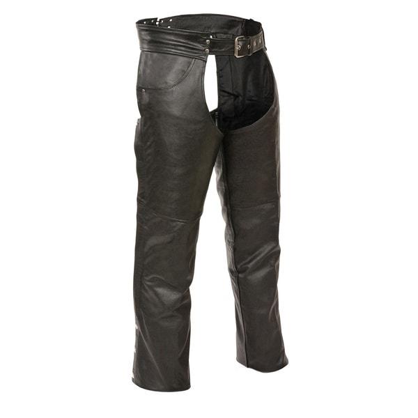 Men's Leather Classic Jean-pocket Chaps