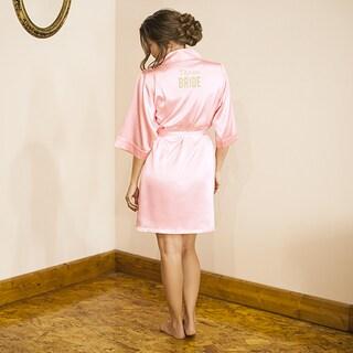 Team Bride Pink Satin Robe