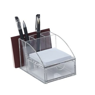 Ikee Design Clear Acrylic Desktop Office Supplies Organizer