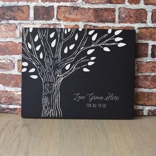 Black Wood Family Tree Chalkboard
