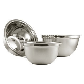 YBM Home Deep Professional Quality Heavy Duty Stainless Steel Mixing Bowls (Set of 3)