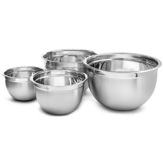 YBM Home Deep Professional Heavy Duty Quality Stainless Steel Mixing Bowls (Set of 4)