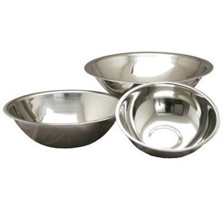 Deep Heavy Duty Stainless Steel Mixing Bowls (Set of 3)