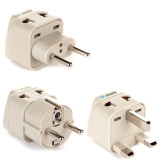 OREI Beige Universal 2-in-1 Plug Adapter (3-piece Set)