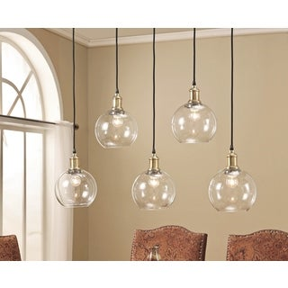 ABBYSON LIVING Edison Glass 5-light Pendant Light