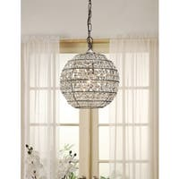 Abbyson Iron and Crystal Globe Chandelier