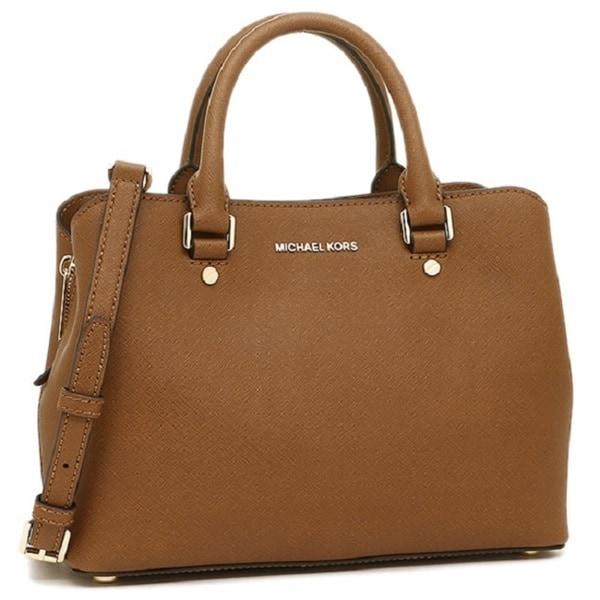 2e0cf1e45948 ... cheap michael kors savannah brown leather medium luggage satchel handbag  0a34c 95da2