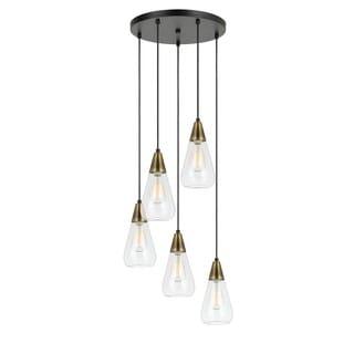 Ellyn Glass 5-light 60W Pendant