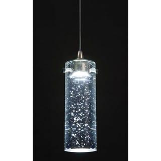 Silvertone Metal/ Glass Light Pendant Fixture