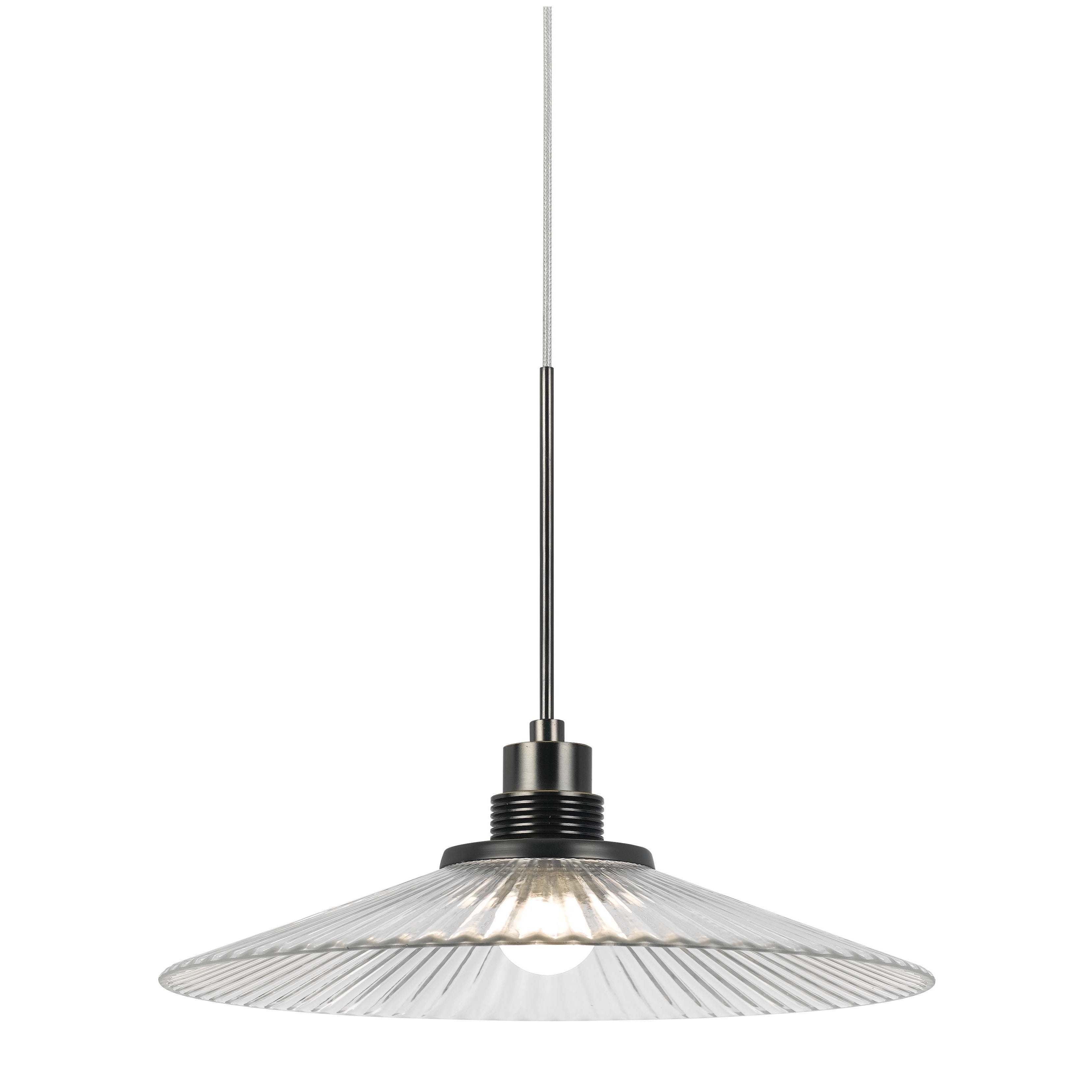 Bronze-finished Metal 9-watt 3500K LED Pendant with Clear...