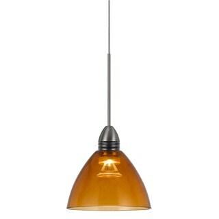 Orange Metal 9-watt 3,500-kelvin LED Pendant Light