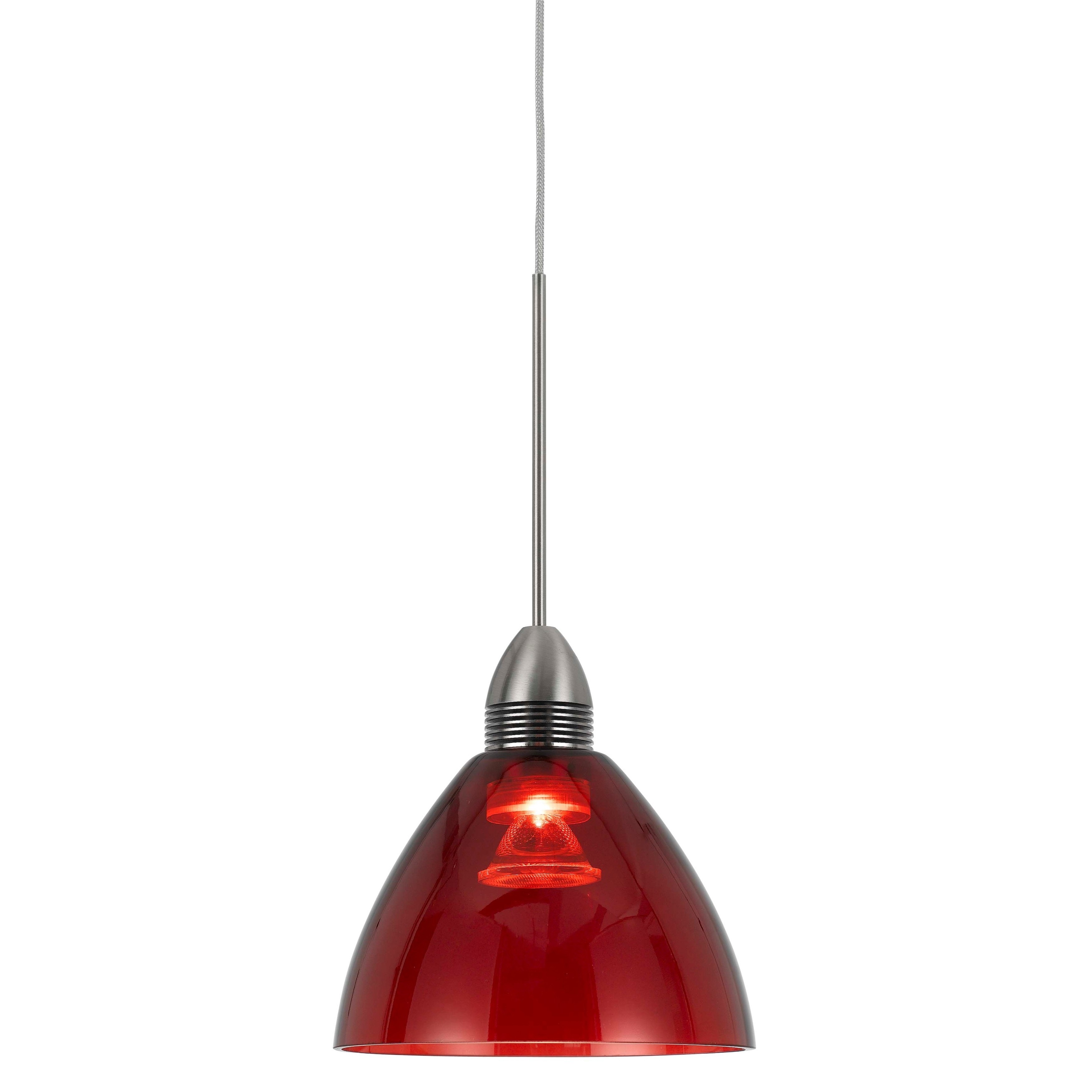 Bronze-finished Metal 9-watt 3500K LED Pendant with Red S...