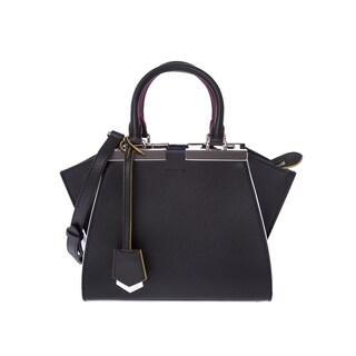 Fendi Mini 3Jours Black Calfskin Leather Shopper Handbag