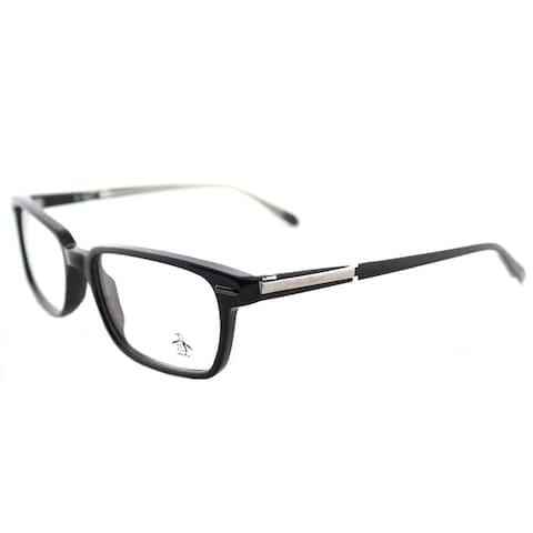 Original Penguin The Baker BK Black Plastic 53mm Rectangular Eyeglasses