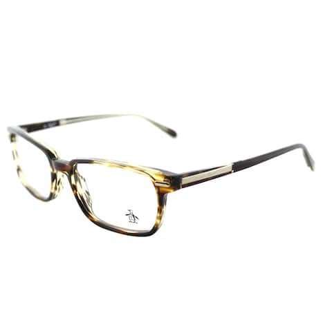 Original Penguin The Baker TO Tortoise Plastic 53-millimeter Rectangle Eyeglasses