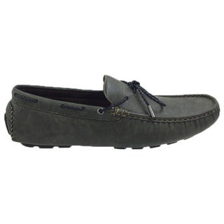 Mecca Men's Khaki Laced Slip-on Loafer Boat Shoes