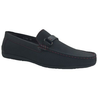 Andrew Fezza Blue Slip-on Loafer Driving Shoes
