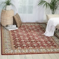 Nourison Aria Red Area Rug - 7'10 x 10'