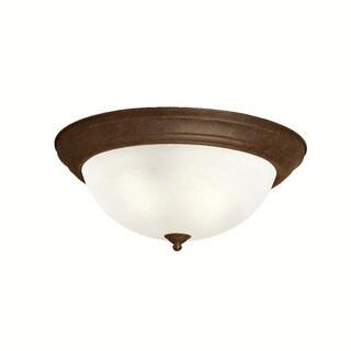 Kichler Lighting Transitional 3-light Tannery Bronze Flush Mount