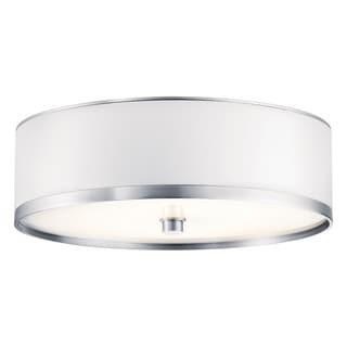Kichler Lighting Pira Collection 1-light Brushed Aluminum Fluorescent Flush Mount