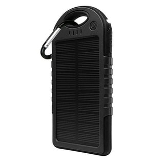 5000mAh Water-resistant Portable Solar-powered Battery Charger Travel Power Bank