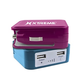 Xtreme 3600mAh Portable Power Battery Bank with Built-in 2.1-amp Car Charger