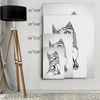 Dmitry Andruz 'Abstract Cat' Wall Art On Canvas