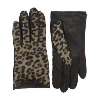 Coach Leopard Calfhair Gloves