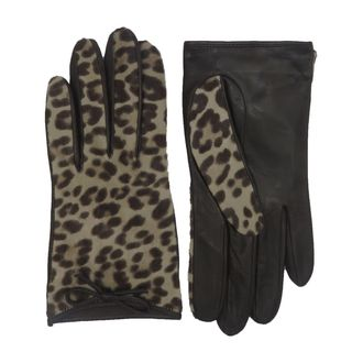 Coach Leopard Calfhair Gloves