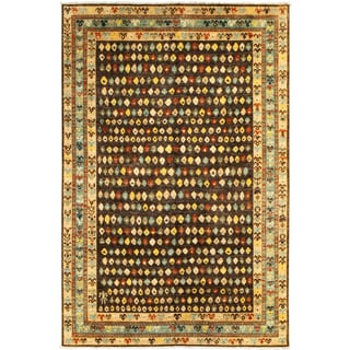 ARZU Hand-knotted Wool Rug (6'2 x 8'11)