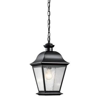 Kichler Lighting Mount Vernon Collection 1-light Black Outdoor Pendant