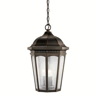Kichler Lighting Courtyard Collection 3-light Rubbed Bronze Outdoor Pendant
