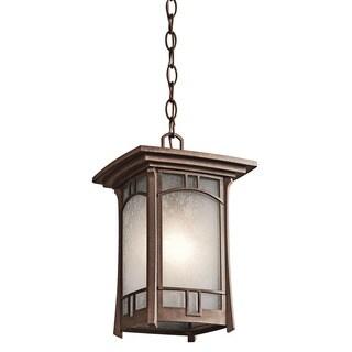 Kichler Lighting Soria Collection 1-light Aged Bronze Outdoor Pendant