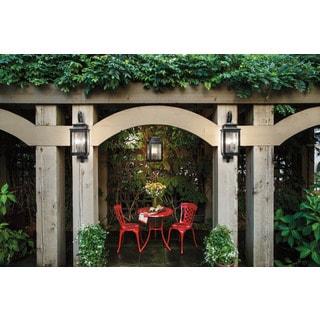 Kichler Lighting Wiscombe Park Collection 4-light Weathered Zinc Outdoor Pendant