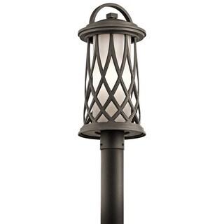 Kichler Lighting Pebble Lane Collection 1-light Olde Bronze Outdoor Post Mount