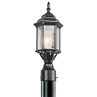 Kichler Lighting Chesapeake Collection 1-light Black Outdoor Post Mount