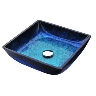 ANZZI Viace Series Deco-Glass Vessel Sink in Blazing Blue