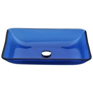 ANZZI Harmony Series Deco-Glass Vessel Sink in Cloud Blue