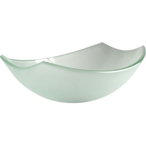 ANZZI Pendant Series Deco-Glass Vessel Sink in Lustrous Frosted