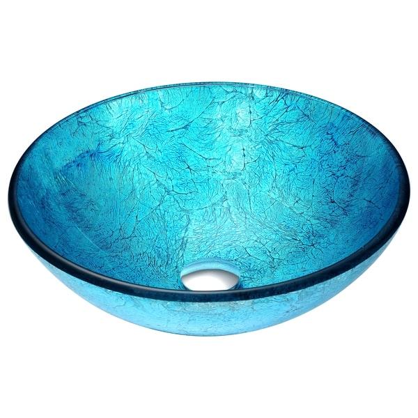 ANZZI Accent Series Deco-Glass Vessel Sink in Emerald Ice