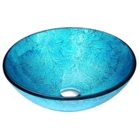 ANZZI Accent Series Deco-Glass Vessel Sink in Emerald Ice