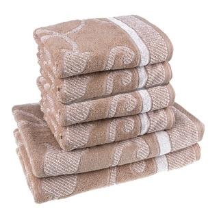 Yarn Dyed Cotton Jacquard 6-piece Towel Set