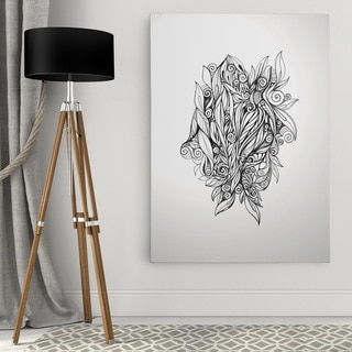Dmitry Andruz 'Leaves Black' Wall Art On Canvas