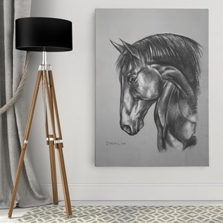Dmitry Andruz 'Equine Sketch II' Wall Art On Canvas