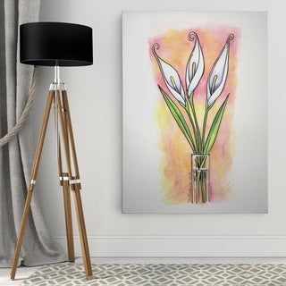 Dmitry Andruz 'Water Color Flowers' Wall Art On Canvas