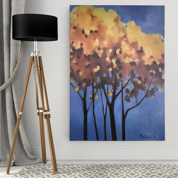 f90896e0244 Shop Dmitry Andruz  Yellow on Blue  Wall Art On Canvas - Free Shipping  Today - Overstock.com - 13797364