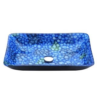 ANZZI Assai Series Deco-Glass Lustrous Blue Vessel Sink