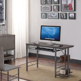 Farley Computer Desk with Bookshelves, Umber Oak