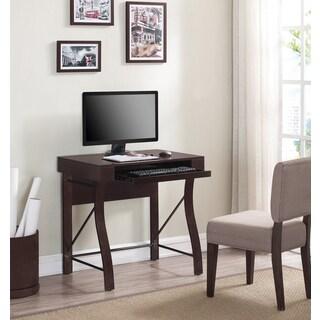 Desk with Keyboard Tray, Dark Espresso