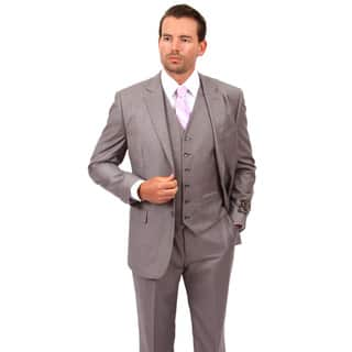 Demantie Men's Light Grey Rayon and Viscose Classic Fit Suit|https://ak1.ostkcdn.com/images/products/13798172/P20447953.jpg?impolicy=medium